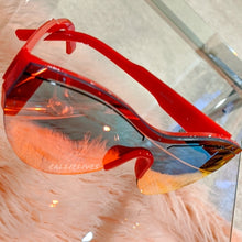 Load image into Gallery viewer, Miz Future Red Iridescent Mirror Frameless Shades