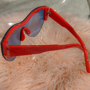 Miz Future Red Iridescent Mirror Frameless Shades