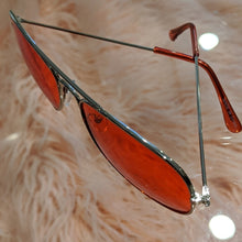 Load image into Gallery viewer, Callie Aviator: Red tinted lens Silver Sunglasses, Accessories, CallieLives