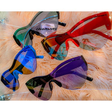 Load image into Gallery viewer, Miz Future Blue Iridescent Mirror Frameless Shades, Accessories, CallieLives