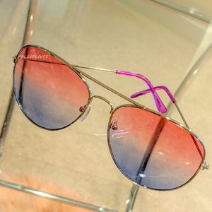 Callie Ombré Silver Aviator Frame Red Purple Blue, Accessories, CallieLives
