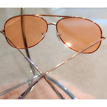 Load image into Gallery viewer, Callie Aviator: Orange tint lens Rose Gold Sunnies, Accessories, CallieLives