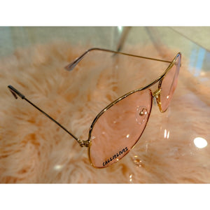 Callie Aviator Pink tint lens Rose Gold Sunglasses, Accessories, CallieLives