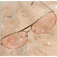 Load image into Gallery viewer, Callie Aviator Pink tint lens Rose Gold Sunglasses, Accessories, CallieLives