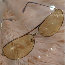 Load image into Gallery viewer, Callie Aviator: Tan tint lens Rose Gold Sunglasses