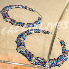 Load image into Gallery viewer, Callie Bamboo: Bling 80s Vintage Style Earrings