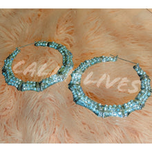 Load image into Gallery viewer, Callie Bamboo: Bling 80s Vintage Style Earrings, Jewelry, CallieLives