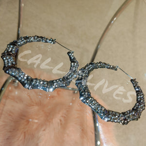 Callie Bamboo: Bling 80s Vintage Style Earrings, Jewelry, CallieLives