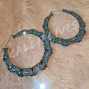 Callie Bamboo: Bling 80s Vintage Style Earrings