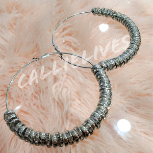 Callie On the Wire: Bling 90s Style Hoop Earrings, Jewelry, CallieLives