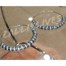 Load image into Gallery viewer, Callie On the Wire: Bling 90s Style Hoop Earrings, Jewelry, CallieLives