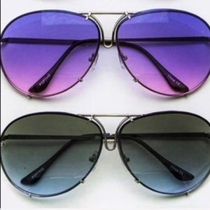 Callie Ombré Aviators: Oversized Purple Lens in Gold Frames - callielives