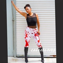 Load image into Gallery viewer, XENA: Blood Work Splatter Hand Print 3D leggings - callielives