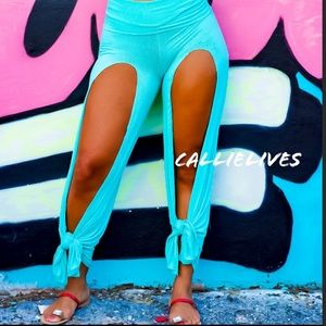 Stasia: Custom Cut Harem Thigh Split Sultan Pants - callielives
