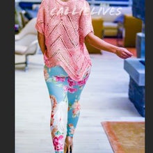 Load image into Gallery viewer, Callie: Minty Green Floral Graphic Print leggings - callielives