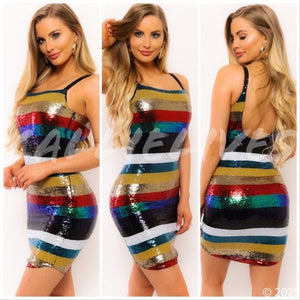 Callie Holiday: Sequin Rainbow NYE Mini Dress, Dresses, CallieLives