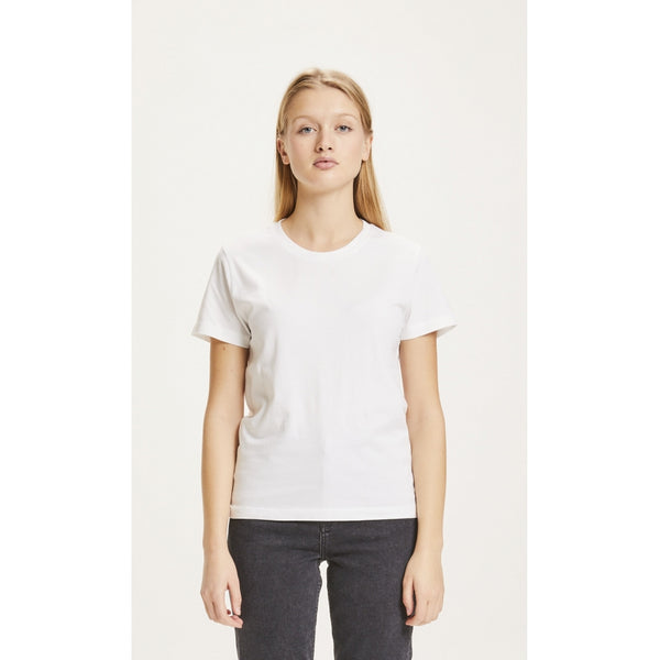 Knowledge Cotton Apparel Rosa Basic Tee in White
