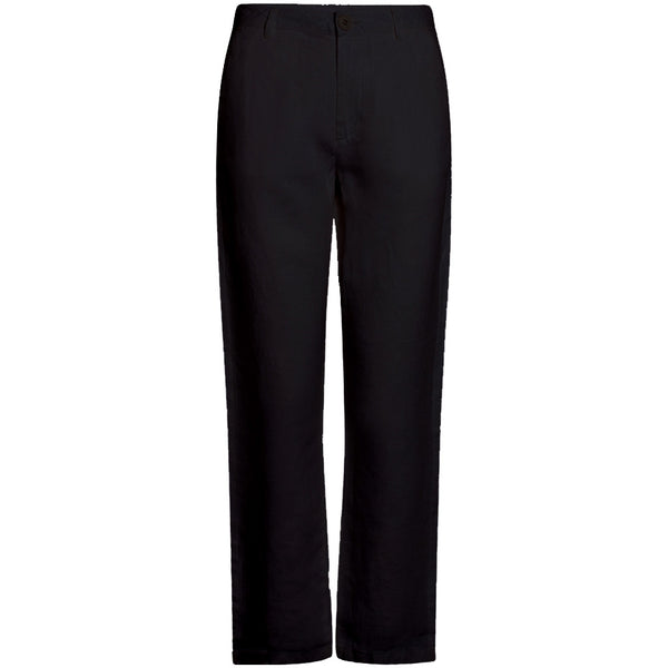 Knowledge Cotton Apparel Senna Loose Linen Pants in Black