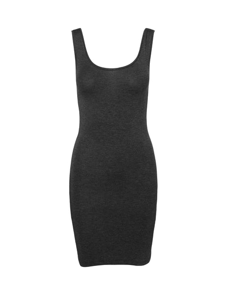 Mbym Lina Dress in Dark Grey Melange