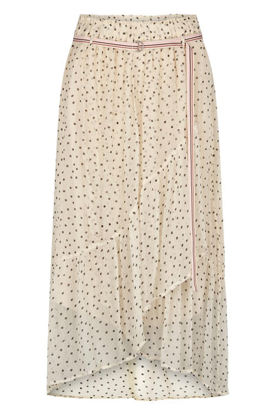 Moliin Lilith Skirt in Off White with Dots