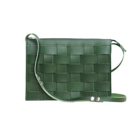 Näver Small shoulderbag in green leather, Näver i grönt, Eduards Accessories