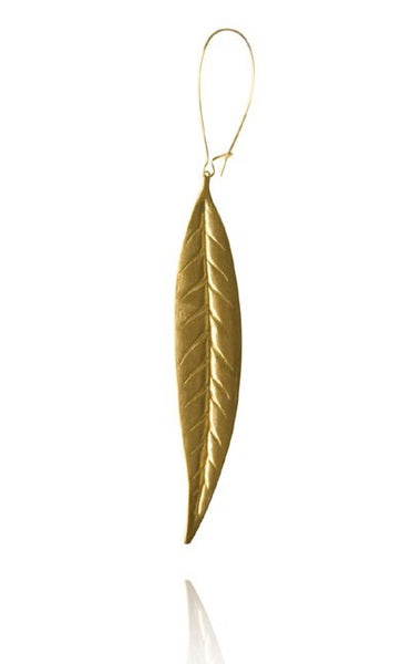 Bohemia Thin Leaf Earring