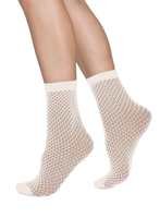 Swedish Stockings Vera Ankelstrumpor Ivory