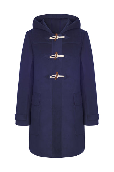 Komodo Theo Duffel Vegan Coat in Navy - 50% rabatt