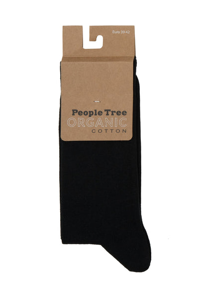 People Tree Organic Cotton Socks Black