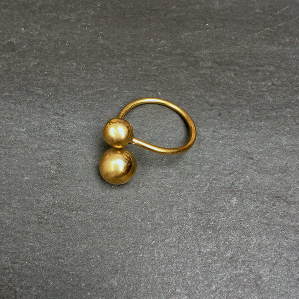 Bohemia Small Brass Planets Ring