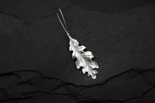 Bohemia Oakleaf Earring in Silverpleated Brass