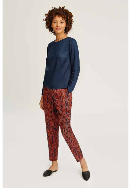 People Tree Aina Abstract Trousers - 50% sista storleken