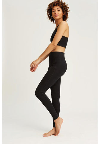 People Tree Yoga Leggings in Black