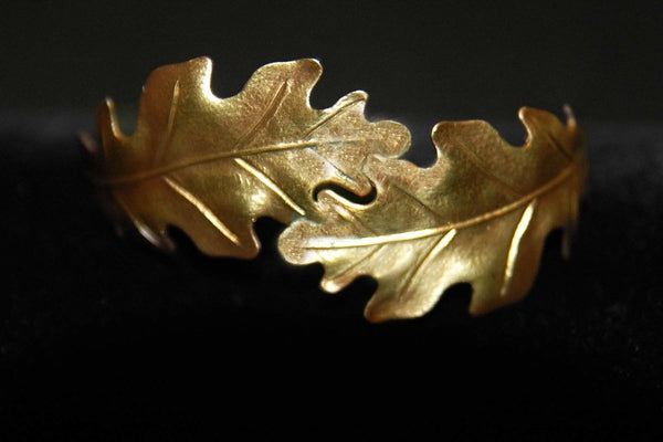 Bohemia Double Oakleaf Bracelet in Brass