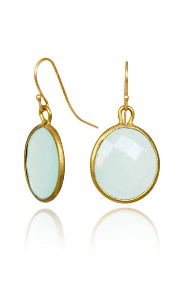 Bohemia Stone Pendant Earrings in Aqua Kelsey