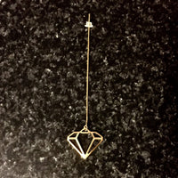 Bohemia Diamond Earring on Chain in Gold or Silver