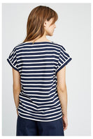 People Tree Jodie Stripe Top Navy