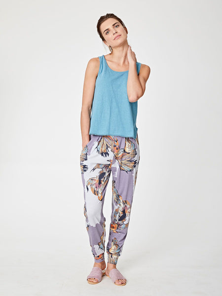 Thought Koro Printed Bamboo Jersey Trousers - 20% REA
