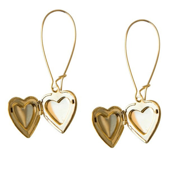Bohemia Pair of Hearts locket Earrings