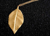 Bohemia Classic Leaf Necklace Brass