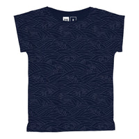Dedicated T-shirt Visby Japanese Waves in Estate Blue