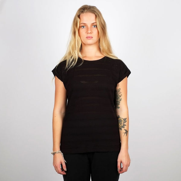 Dedicated T-shirt Visby Lace Black
