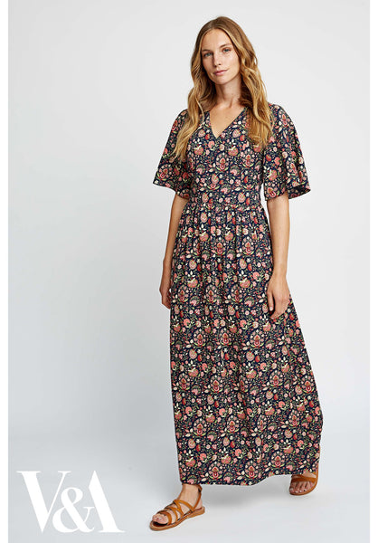 People Tree Yasmin Print Maxi Dress