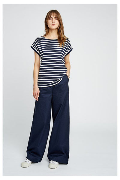 People Tree Eve Trousers in Navy -20% REA