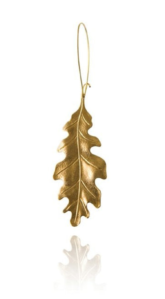 Bohemia Oakleaf Earring in Goldpleated Brass