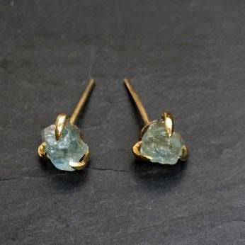 Bohemia Pair Of Claw Studs Aquamarine