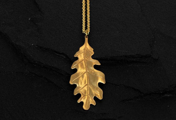 Bohemia Oakleaf Necklace in Brass