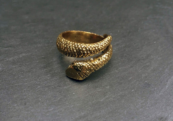Bohemia Snake Ring Brass