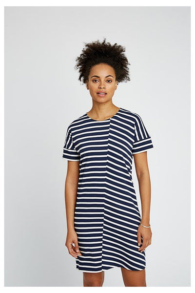 People Tree Cornelia Stripe Tunic Navy - REA 20%