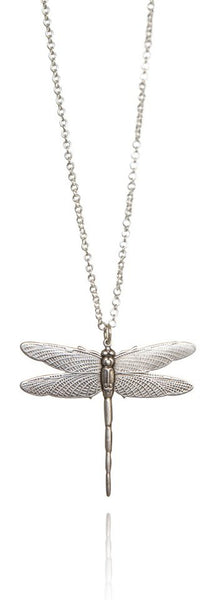 Bohemia Dragonfly Necklace in Silverpleated Brass